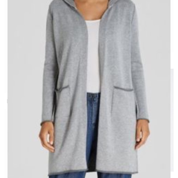 Eileen Fisher Sweaters - Eileen Fisher Peruvian Cotton Hooded Sweater Tunic 297e36911